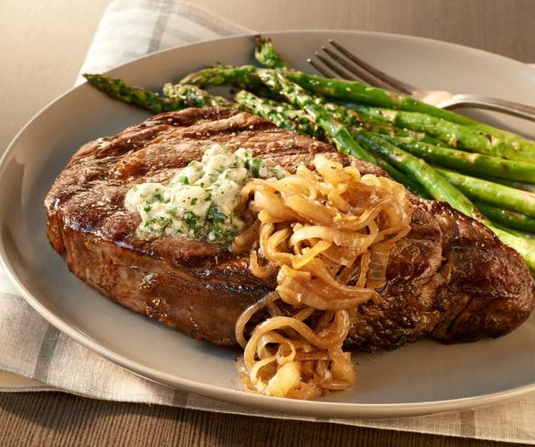 Salted Ribeye Steak